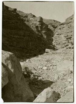 Fotografie wadi en-nar unterhalb des Klosters Marsaba