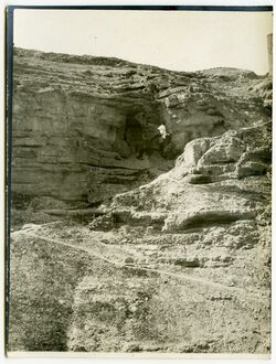 Fotografie wadi en-nar unterhalb des Klosters Marsaba [... ?]