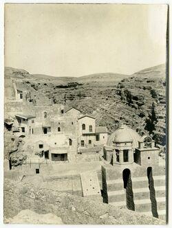 Fotografie Kloster Marsaba [mar saba] vom Frauenturm aus