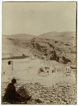 Fotografie Kloster Marsaba [mar saba] im wadi en-nar vom Frauenturm aus