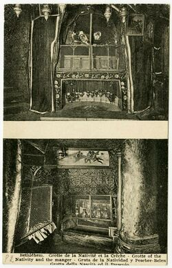 Postkarte Bethléhem. Grotte de la Nativité et la Crêche. [Bethlehem]