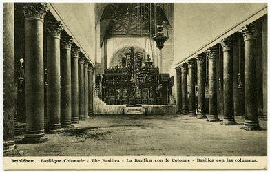 Postkarte Bethléhem. Basilique Colonade. [Bethlehem]