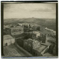 Fotografie v. Turm des grich. Klosters in Bethlehem [... ?]