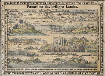 Landkarte Panorama des heiligen Landes