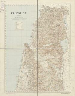Landkarte Palestine