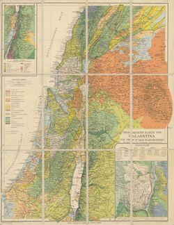 Landkarte Geologische Karte von Palaestina