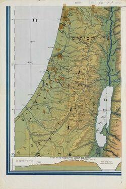 Landkarte Eretz Israel