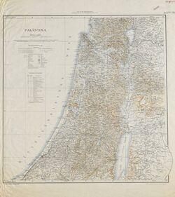 Landkarte Palästina