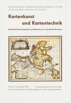 Plakat Kartenkunst und Kartentechnik. Niederländische Kartographie vom Mittelalter bis zur Industriellen Revolution