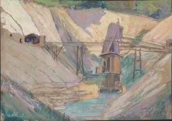KU000589; Kreidebergwerk Sassnitz; Gemälde