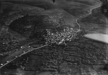 Fotografie Original genin [Jenin] u. Strasse Nablus-Nazareth