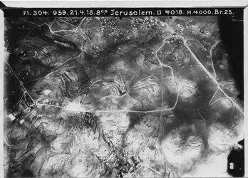 Fotografie Jerusalem von Ölberg bis ras el-mesarif UR[?] NO Deutsche Kuppel, Jüd. Kuppel ras abu halawi, ras el-mesarif