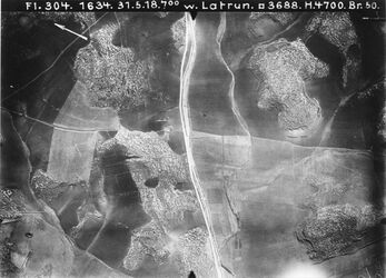 Fotografie w. Latrun Strasse v. Latrun [Wort nicht lesbar] nach Bahnhof v. sarar w. el-chalil Anschluss an 708 [GDIp00217]