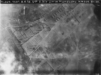 Fotografie ö. Bir Umm Mandschu [Bir Umm Maudschu, bei Gaza] 470Mn.=471 [GDIp00776] r.m. bei w. es-selka [vielleicht Tell el-Mselha]