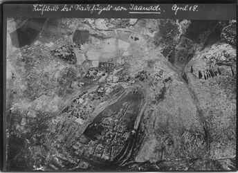 Fotografie Luftbild der Nordhügel [fügner?] von Taanach UBR N Dorf taannak l. vom oberen Ende des Tall