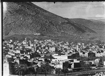 Fotografie Nablus IV unten Bahnlinie