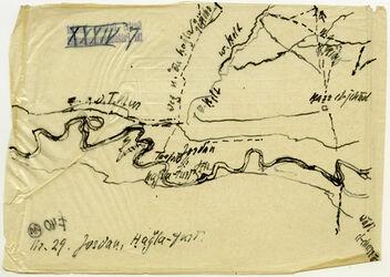 Karte Nr. 29 Jordan, Hagla-Furt [Hadschla-Furt (Taufstelle nach Gustaf Dalman)]