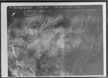 Fotografie Wadi Dar Dscharir Kolb nach dem Planquadrat swl. v. en-nigme l.w. der egrir