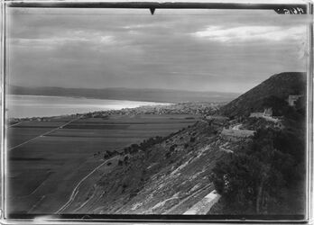 Fotografie Haifa + Bucht vom Karmel (Westen)