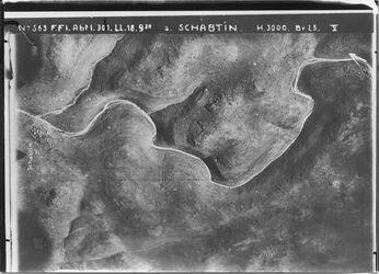 Fotografie s. Schabtin Tal zw. Sebtin u. harbeta ibu harit Anschluss r.an 562 l. [GDIp00540] unten n.r. der el-kaddis [Deir Qaddis] Anschluss an Nr.538 [GDIp00541]