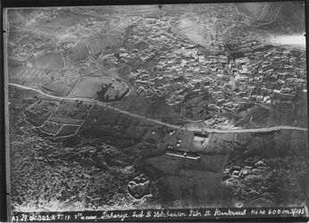Fotografie Daharije [Ed-daherije] Lauf [wohl sh. GDIp00459] Strasse Hebron Beersaba [Beer Sheva] ed-daharije UBR SO of Nr.970