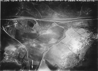 Fotografie Bhf. Wadi Sarar [Wadi es Sarar Fluss] oben Str. Latrun nach u. Wege nach abu suse Anschluss an 395