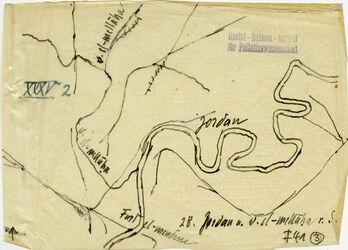 Karte 28. Jordan v. w. el-mellaha v. S. [el-Mendesse (Jordanfurt)]