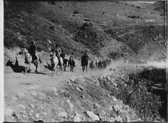 Fotografie Stab des 8. Armeekorpus im Jordanland [wohl bei Tell Nimrin]