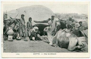 Fotografie Egypte. - Chez les Bicharis [Beduinen]