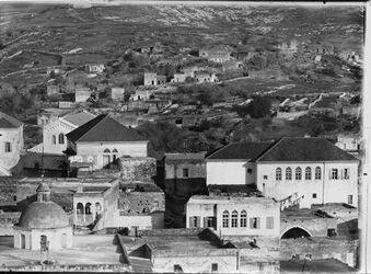 Fotografie Nazareth Pan. C Erziehungskirche l. Kuppel v. Schule der Kussins [?]