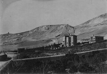Fotografie Nr.57 Houis djemal Paschas [?] am gebel kasjan westl. v. es-salihije [es-Salihije] Damaskus v.S.