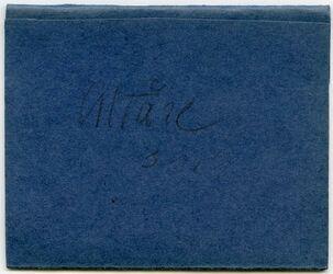 Karton Altäre. Dr. Lohmann. Reise 1911 [Trenner/Beschriftung der vorherigen Sortierung der Kleinfotografien]