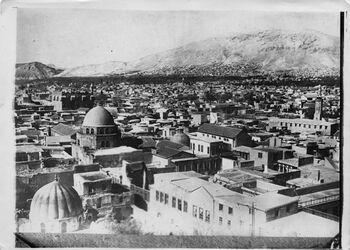 Fotografie Nr. 56 Damaskus v. SO Aussicht v. Christusminaret der Omajadenmoschee UBR SO