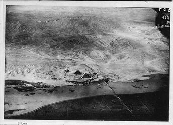 Fotografie Pyramiden v. Gizeh v.O. Zeit unbekannt Überschwemmungswasser Nil