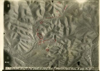 GDIp01426; Fotografie; Wadi es Sidd Engl. Kav. im Wadi es Sidd südöstl. Martaba, aus Bestand von gut 1.300