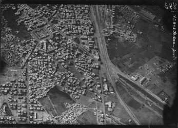 Fotografie Nord Ostteil von Kairo l.o. Moschee ez-zahir =504 r. [GDIp01349] r. sasia abbas pusche [?] Eisenbahn Ismailiakanal UBR O