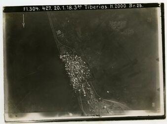 Fotografie Tiberias von oben
