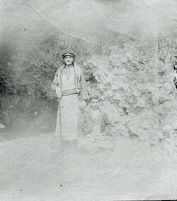 Fotografie [Junge Handwerker Gededi (Werg. Ajun) [aglun, adschlun, adjlun?]]