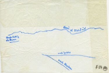 Karte Henu el Mahfud [?, Jordanien] nach Jericho nach Hesbon