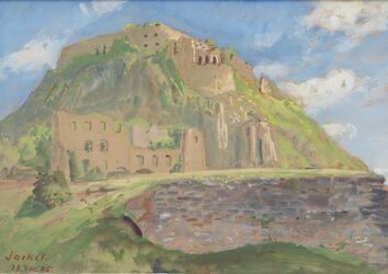 KU000596; Berg mit Ruine; Gemälde