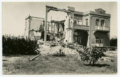 Fotografie Winter-Palace-Hotel, Jericho [Postkarte, Erdbeben 11. Juli 1927]