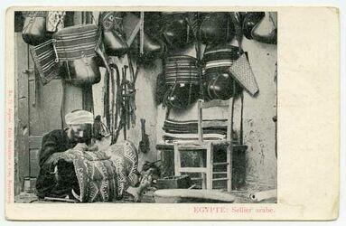 Fotografie Egypte - Sellier arabe. [Postkarte]