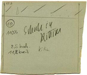 GDIp01903; Fotografie; Schule in Kittim, in Bestand von rund 5.000 nach Themen und Orten sortierten Kleinbildabzügen