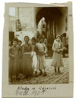 Fotografie Kinder in Nazareth.