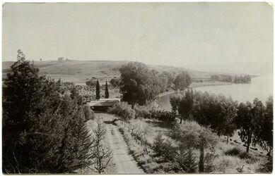 Fotografie Mount Tabor. Church of Tranfiguration. [Postkarte an Gustaf Dalman]
