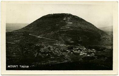 Fotografie Mount Tabor [Postkarte an Gustaf Dalman]