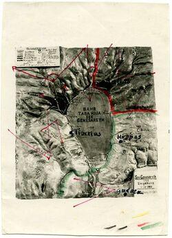 Fotografie P.Köppel.s.J. Ravensburg, Herrenstr. 1 [?] [Reliefkarte See Genezareth]