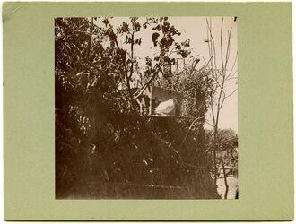 Fotografie Taubenhaus an Schilfhütte. Gärten v. Aleppo