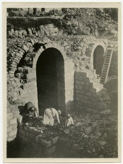 Fotografie Bethlehem. Schwed. Hospital im Bau