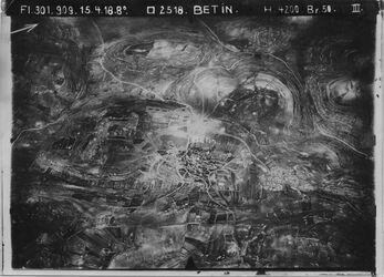 Fotografie Betin [Beitin, Bethel] Nablus I, Dalman Ersatz Nr. 73 v. l. oben Weg el-bire n.r. unten Weg n. Nablus von oben Mitte n.r. Mitte Parallelweg v. el-bire n. Nablus (über en jebrud)[Ain Jabrud] etwa bis en el-masaje UBR Ost